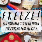 Freeze! How many of these methods of cutting food waste can you name?
