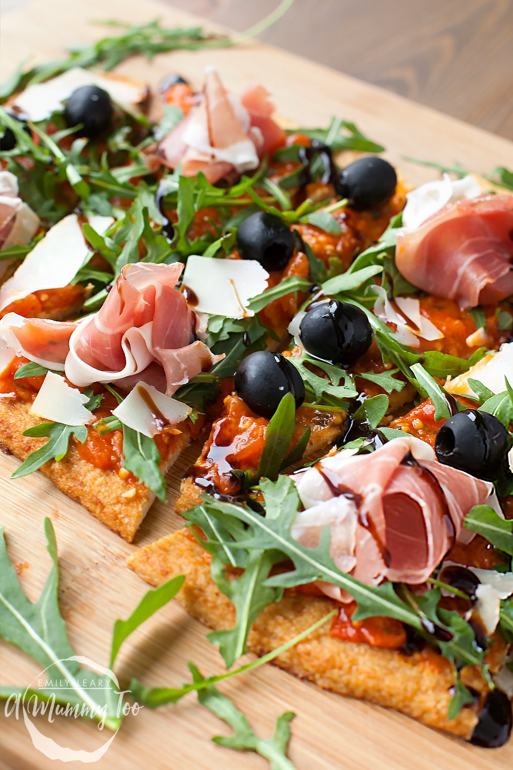 Grana Padano and Prosciutto di San Daniele cauliflower crust pizza - This recipe features delicious textures and flavours from two tasty Italian ingredients