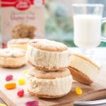 Exquisite ice cream sandwiches using Betty Crocker Gluten-Free Chocolate Chip Cookie Mix