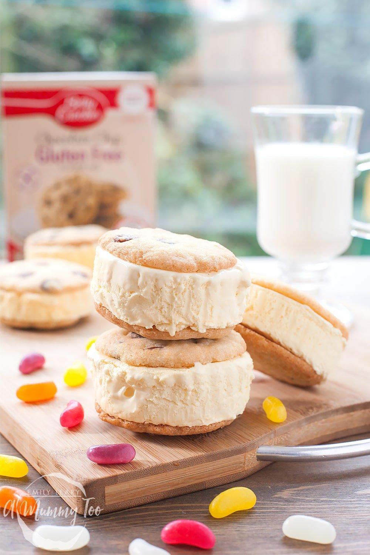 Gluten Free Chocolate Chip Cookie Ice Cream Sandwiches
