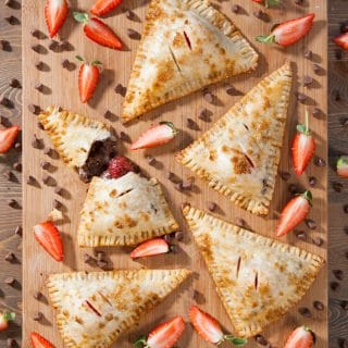 Gluten-free chocolate and strawberry parcels