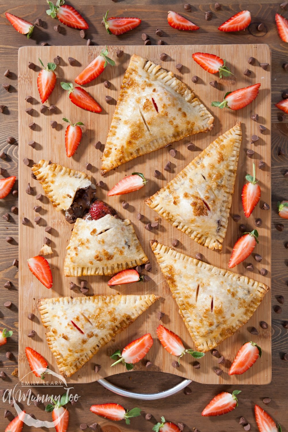 Gluten-free chocolate and strawberry parcels - made with Jus Rol's gluten-free puff pastry