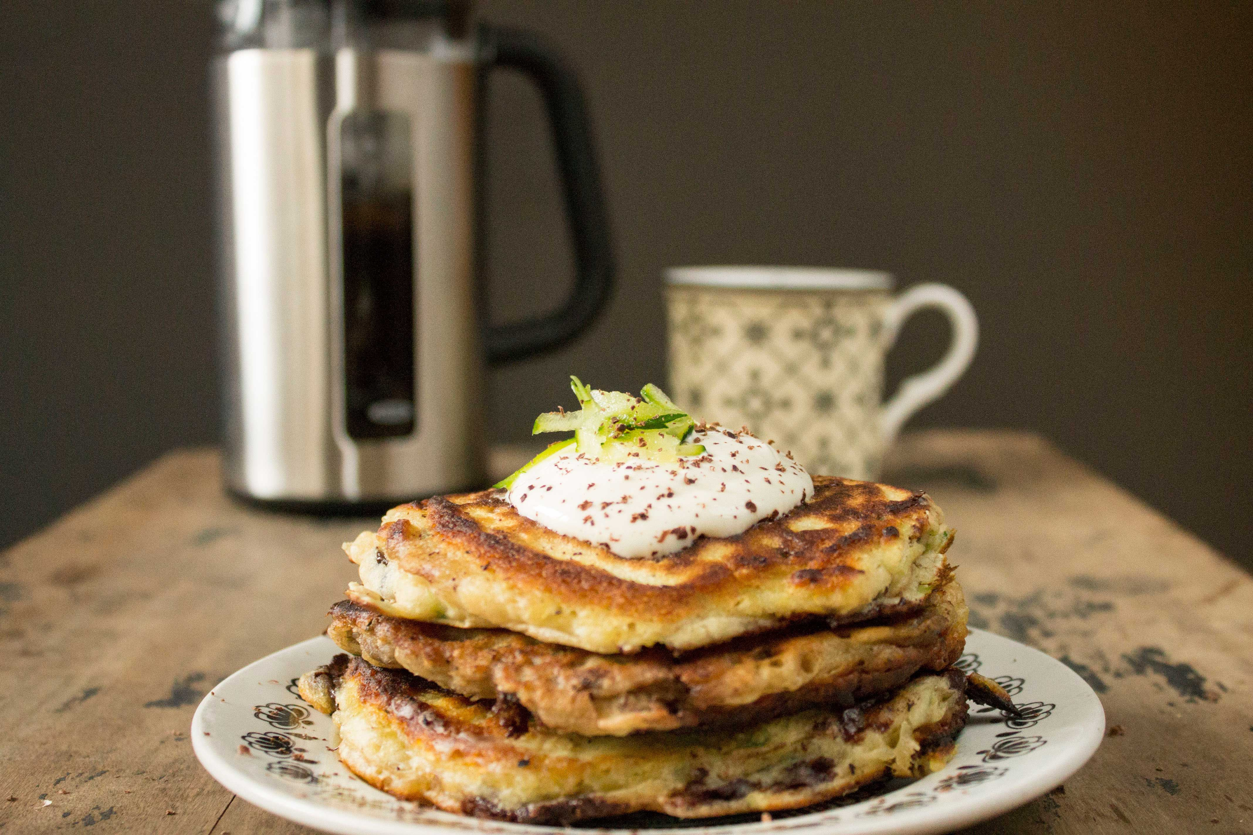 Courgette and Chocolate Pancakes by veggie desserts