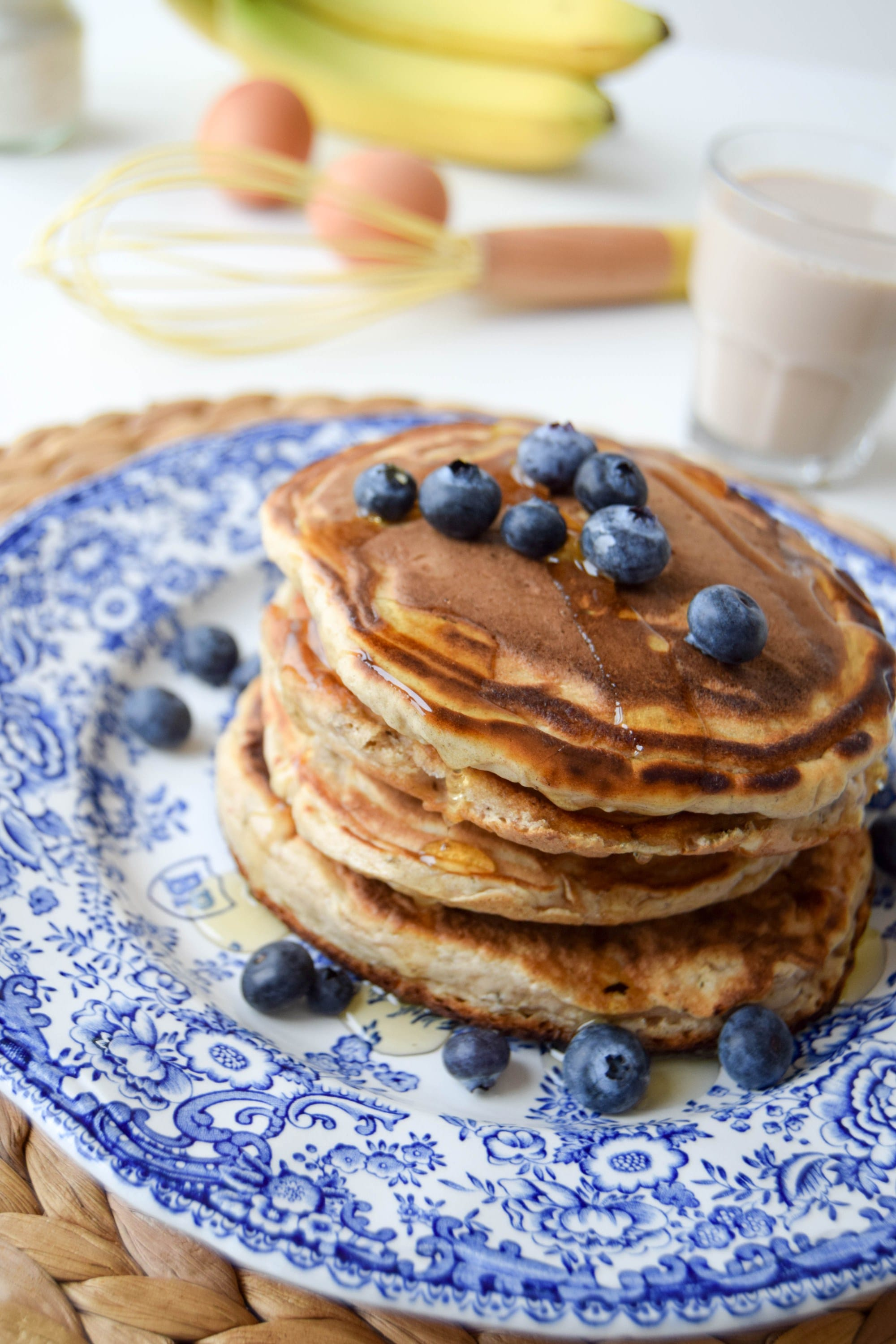 Gluten Free Banana Bread Pancakes by celery and cupcakes