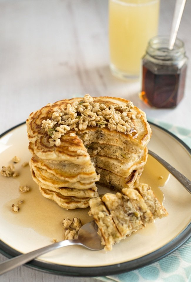 Granola pancakes by amuse your bouche