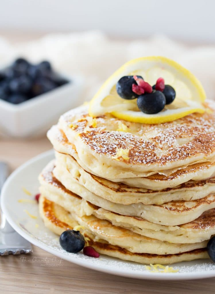 Lemon Ricotta Pancakes by the chunky chef
