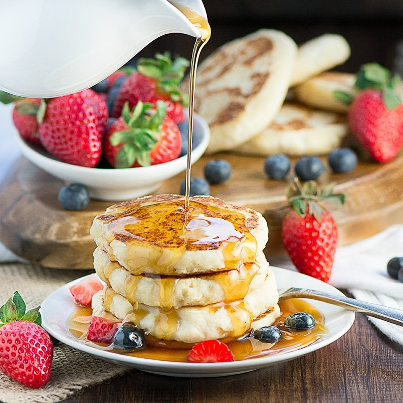 Ricotta Pancakes by charlotte's lively kitchen