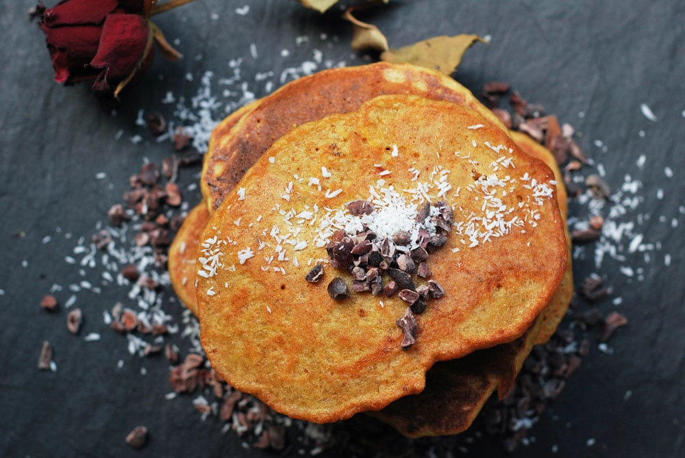 butternut squash and carrot pancakes by rough measures