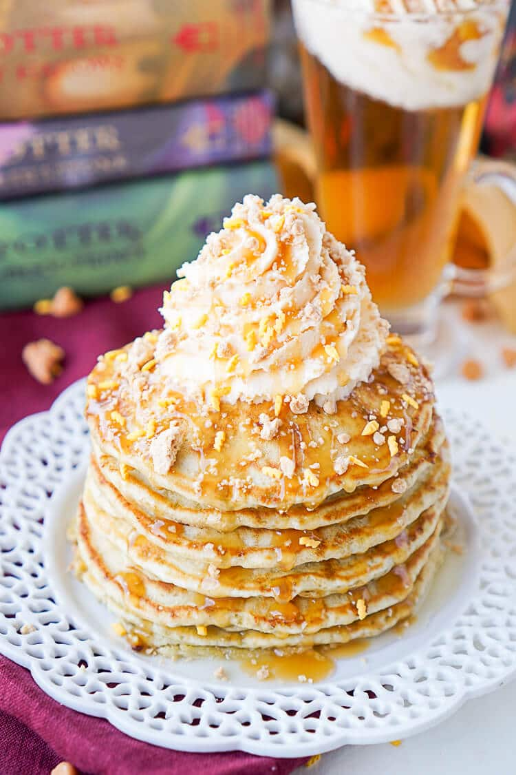 harry potter butterbeer pancakes by sugar and soul