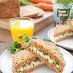 Home-grown carrot soda bread egg and cress sandwiches (cooking with kids)
