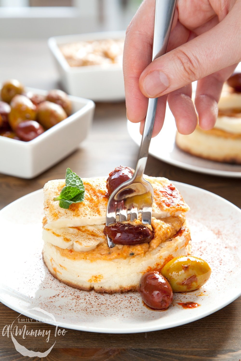 Enjoy these delicious gluten-free meze-inspired crumpets for brunch!