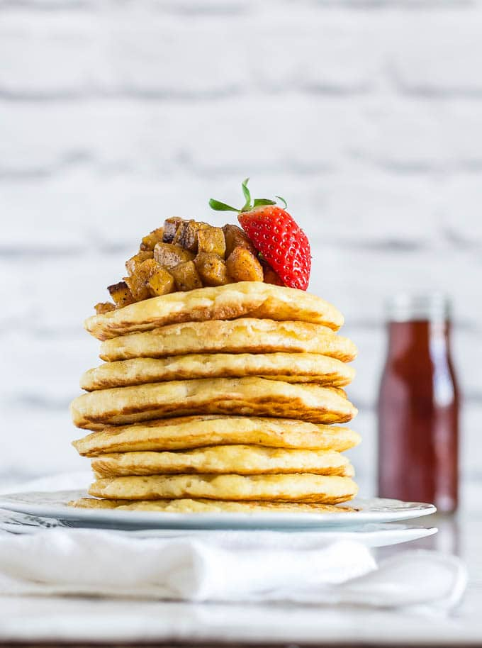 semolina pancakes with maple and nutmeg plantains by recipes from a pantry