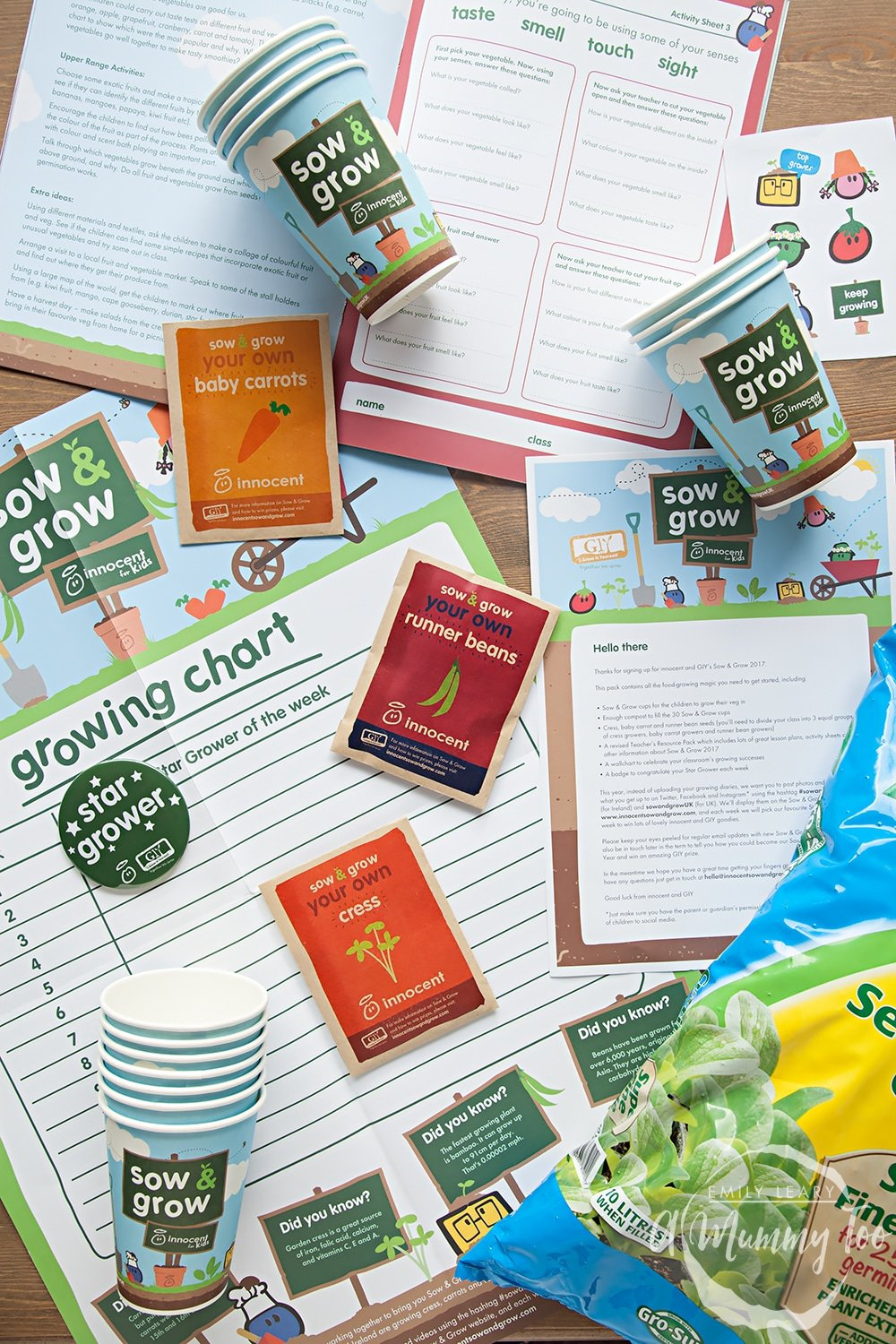 Sow & Grow, an initiative by innocent to encourage children to grow and learn about food at school and home