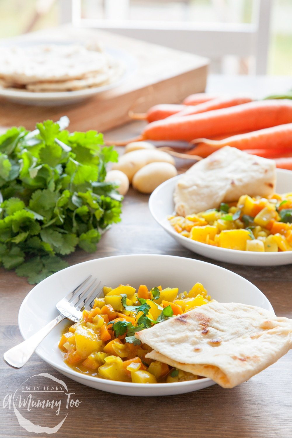 carrot and mango curry with home-made spices and 5 minute naan bread ...