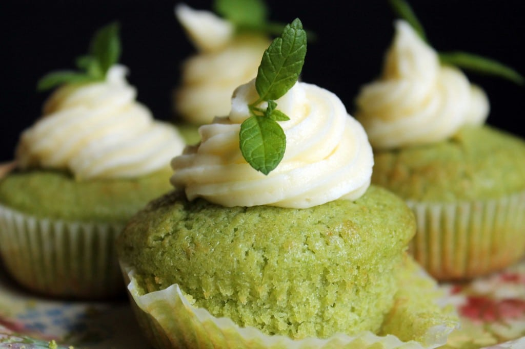 Cucumber and Mint Cupcakes by veggie desserts