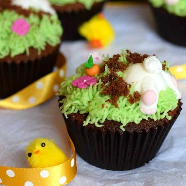 Easter Bunny Cupcakes by only Crumbs Remain