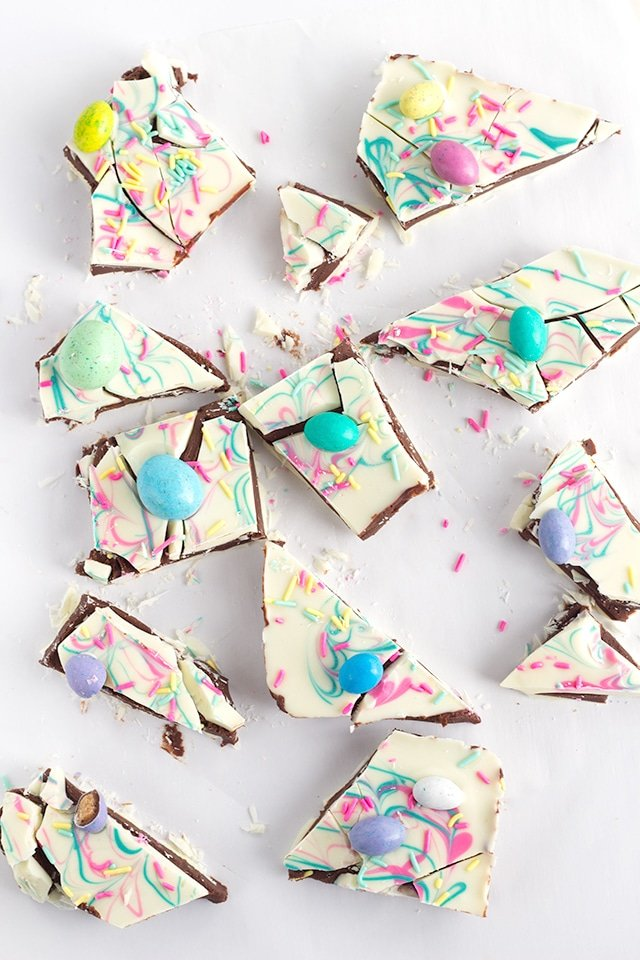 Easter Truffle Bark by Cookie Dough and Oven Mitt