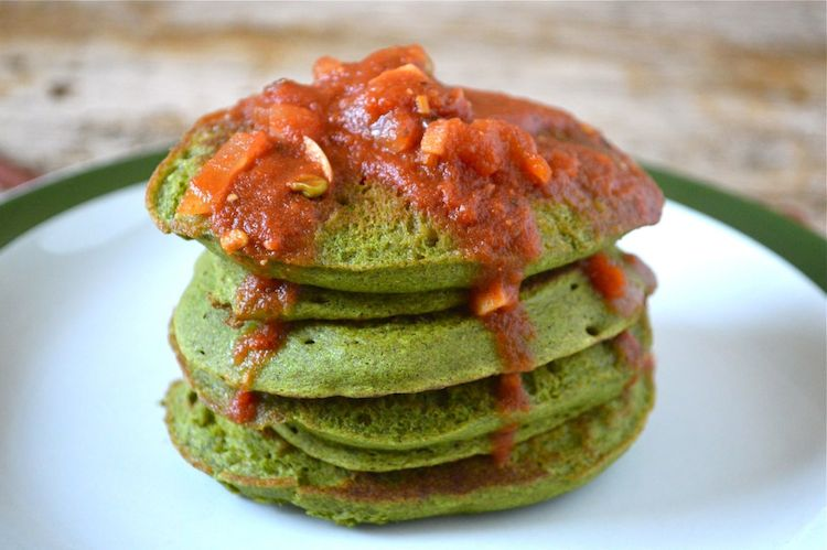 Kefir Kale Pancakes By Tin and Thyme