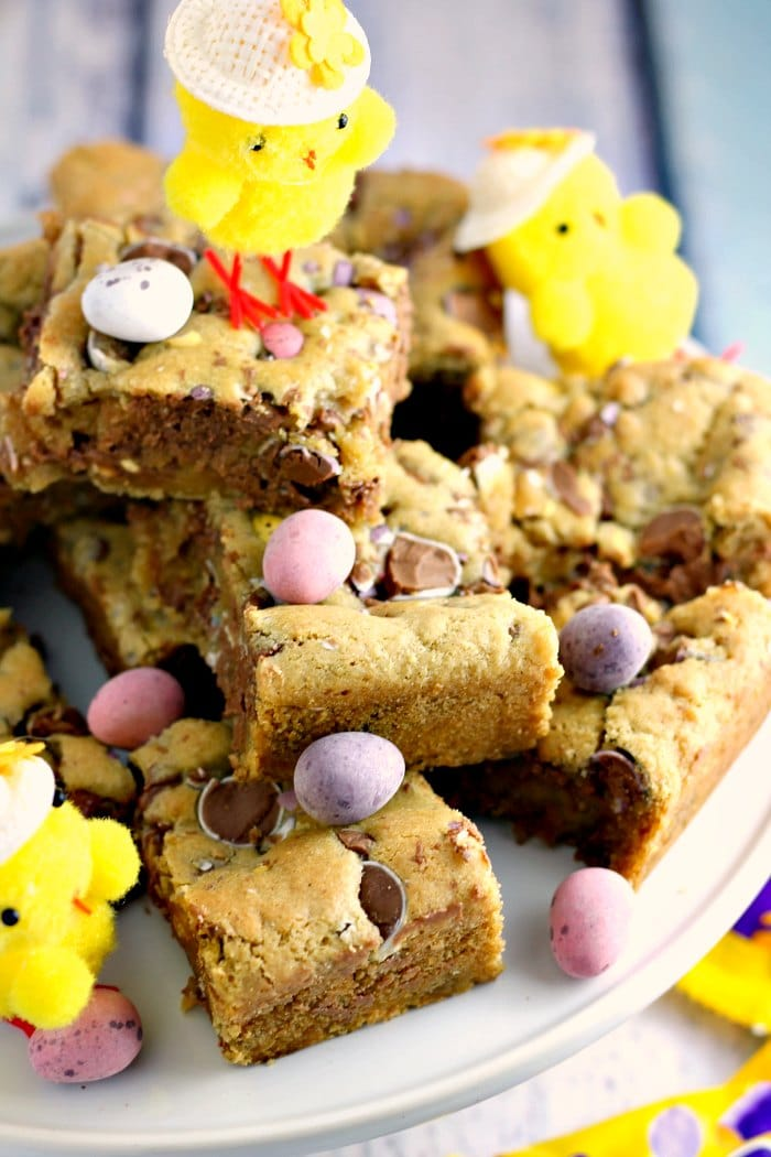 Mini Egg Blondie Bars by Jam and Clotted Cream
