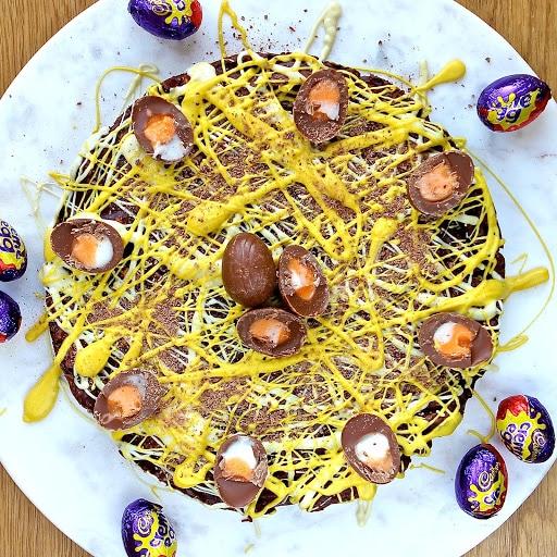 No Bake Creme Egg Biscuit Cake by Gluten Free Alchemist