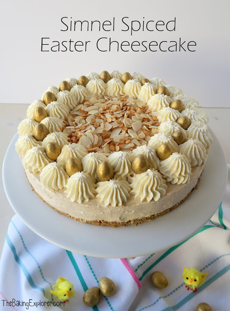 Simnel Spiced Easter Cheesecake by The Baking Explorer