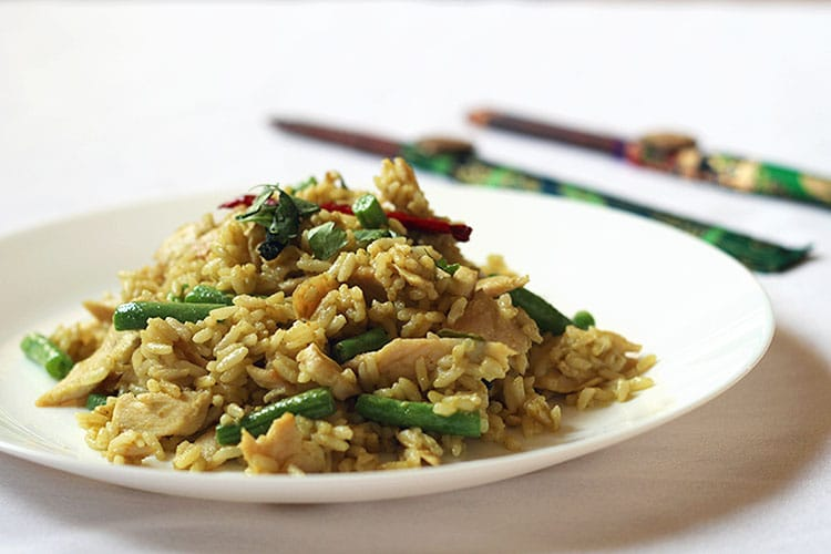 Thai Green Curry Fried Rice by Rosalilium