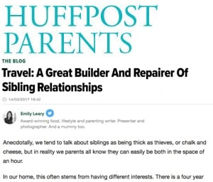 Huffington Post: Travel: A Great Builder And Repairer Of Sibling Relationships
