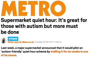 Metro:  Supermarket quiet hour: It's great for those with autism but more must be done
