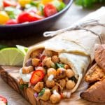 BBQ chickpea summer wraps