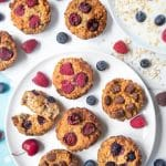 Summer fruit yogurty breakfast muffins