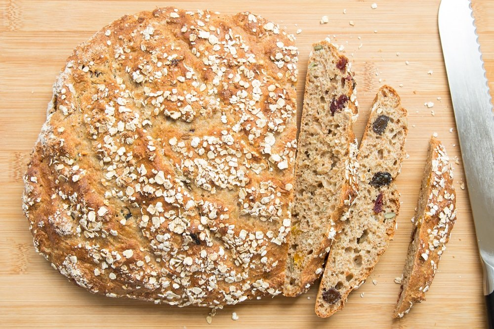 Slice your fruit loaf, ready to toast and top with summer fruits