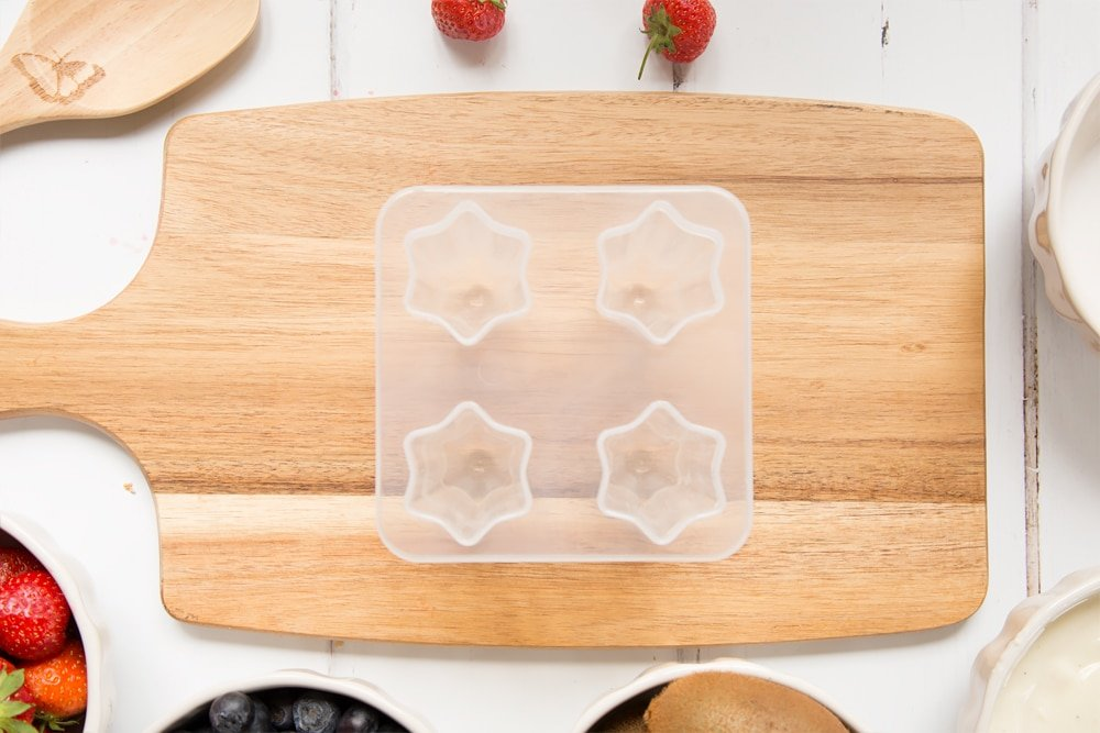 Star ice lolly mould shown empty