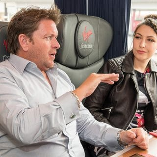 A train ride to York with James Martin and Virgin East Coast