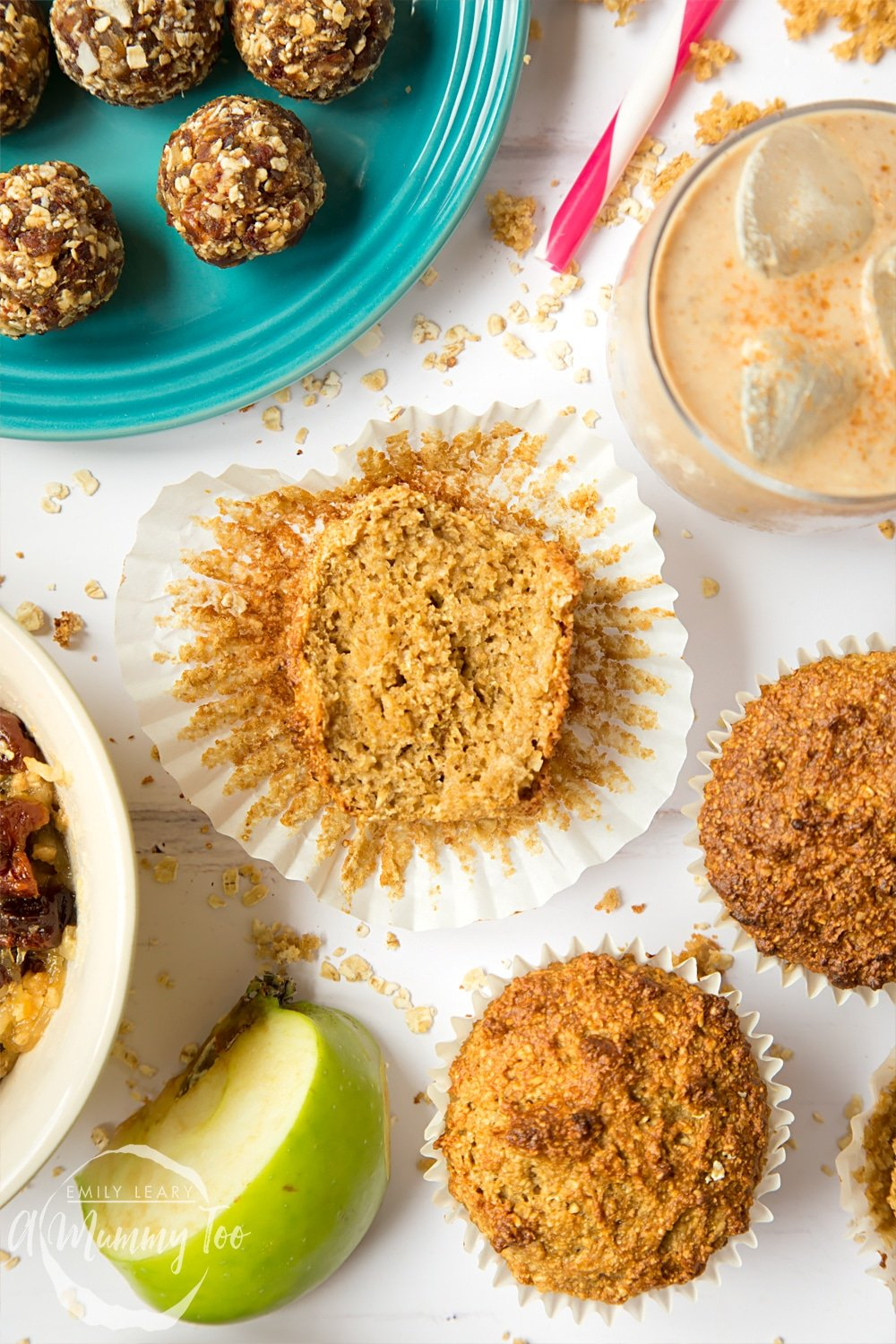 These breakfast bran granola muffins are a fresh take on bran muffins, featuring granola and applesauce. Delicious!