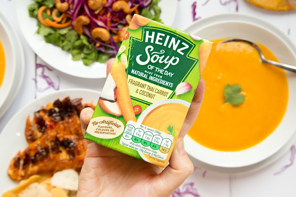 Heinz Soup of the Day fragrant Thai carrot and coconut soup