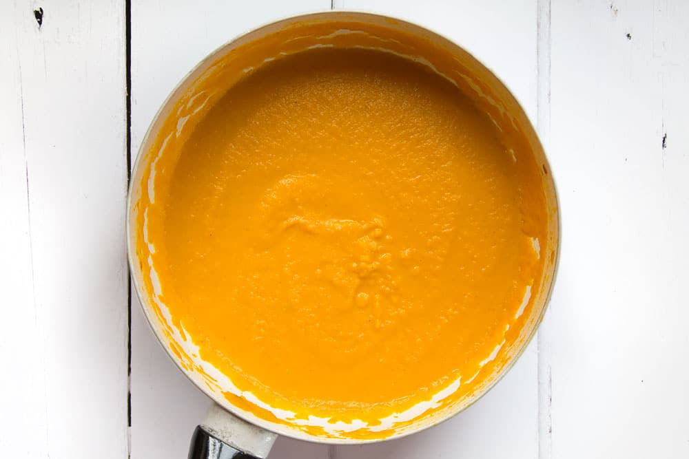 The final fragrant Thai carrot and coconut soup!