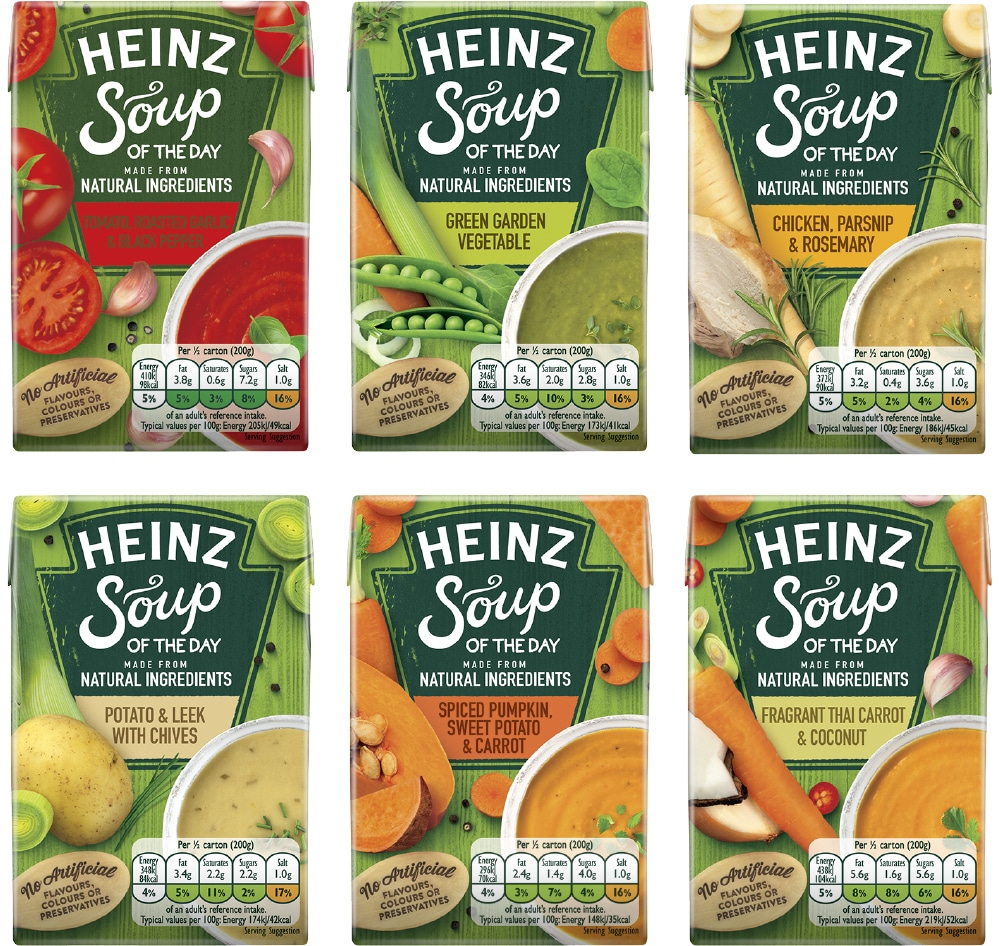 Heinz Soup of the Day made from natural ingredients