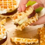 Waffle apple burgers! A kid-friendly, fruity, gluten-free dessert