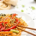Sweet and sour ketchup noodle stir fry