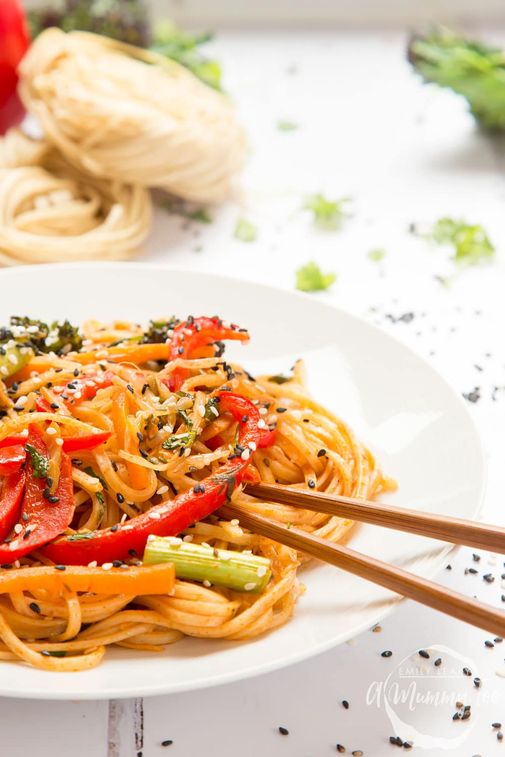 Tangy and tasty sweet and sour ketchup noodle stir fry