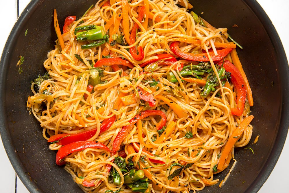 Cooking the deliciously tangy sweet and sour ketchup noodle stir fry