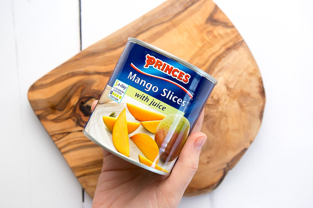 Princes mango slices feature in this yogurt and mango breakfast bowls recipe