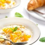 Yogurt and mango breakfast bowls