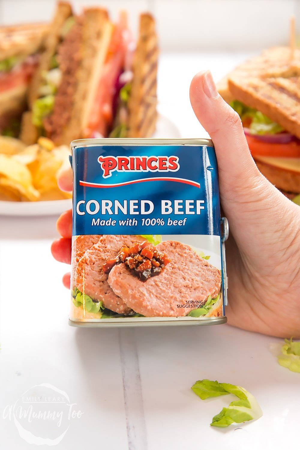 Princes corned beef is used to create this delicious deli-style corned beef on rye sandwich