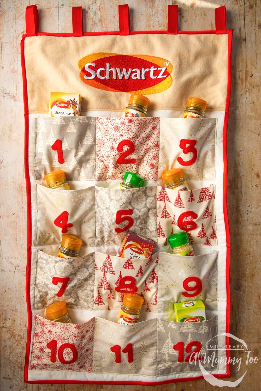 Schwartz advent calendar, stocked with Schwartz spices