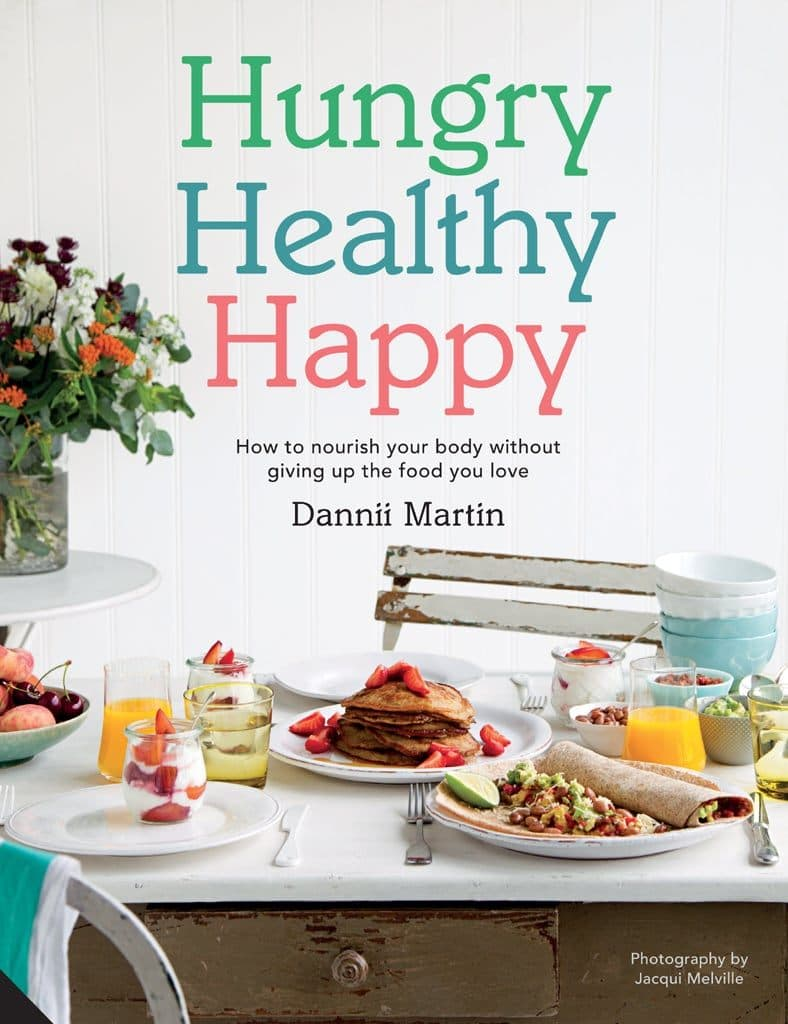 Hungry Healthy Happy by Dannii Martin - the cookbook in which this healthier chocolate bars recipe features
