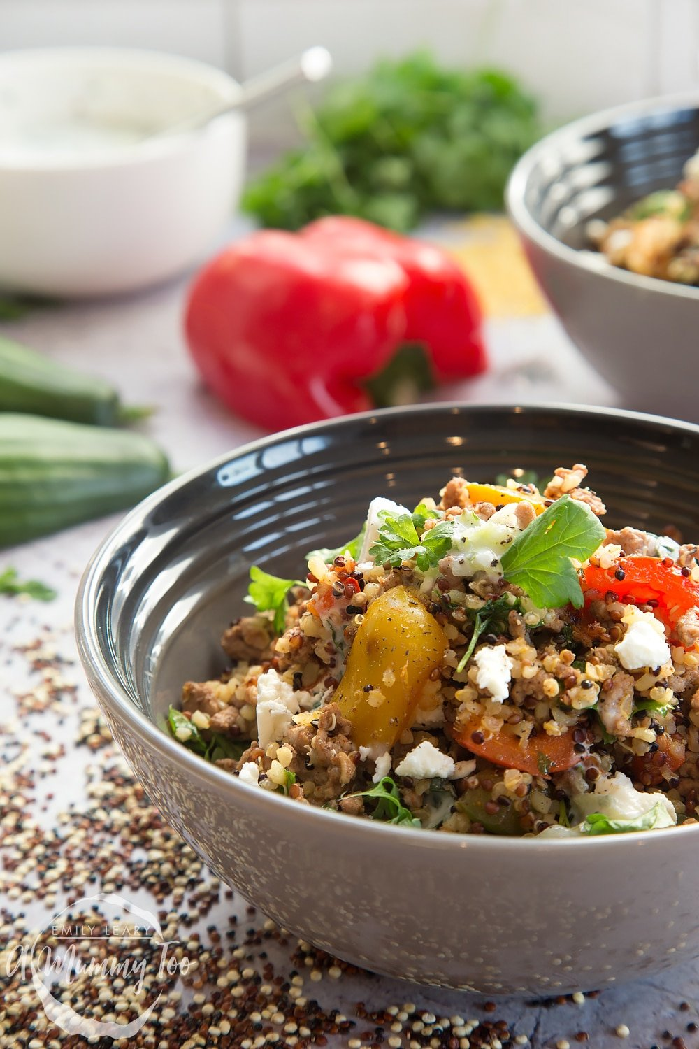 Aromatic lamb and warm grain salad - the perfect midweek dinner, made with quality lamb