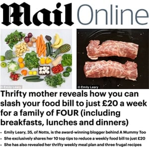 Thrifty mother reveals how you can slash your food bill to just £20 a week for a family of FOUR (including breakfasts, lunches and dinners)