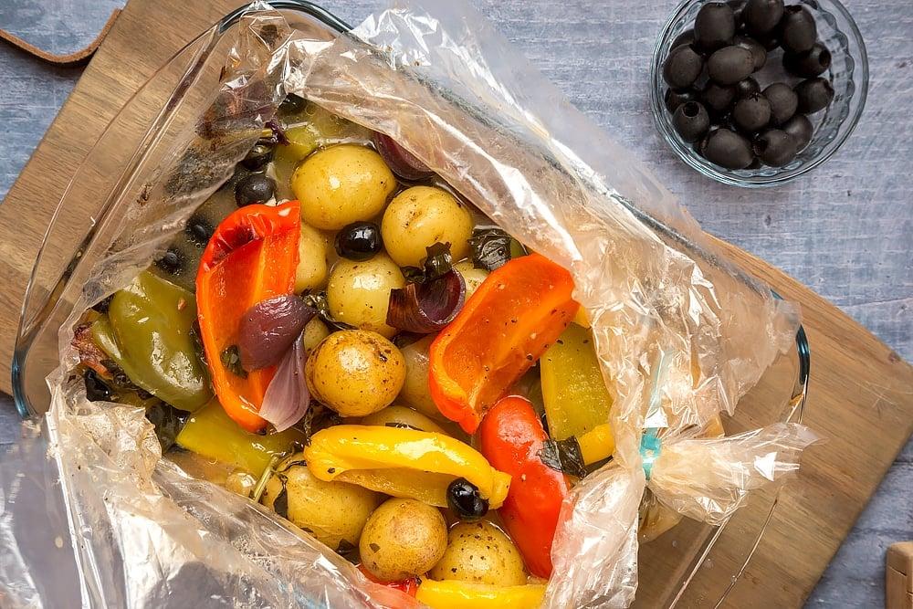 Mediterranean vegetables ready to serve