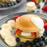 Fruity pancake stack